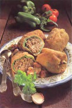 Чилес рессенос - запеченный фаршированный перец