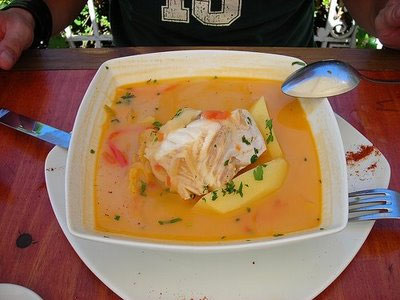 Чилийский суп из угря