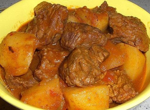 Цимес картофельный с мясом