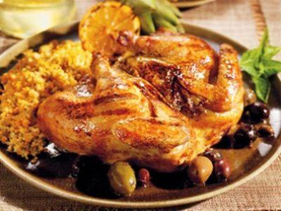 Маринованный цыпленок, жаренный на решетке