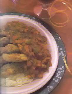 Филе индейки по-креольски