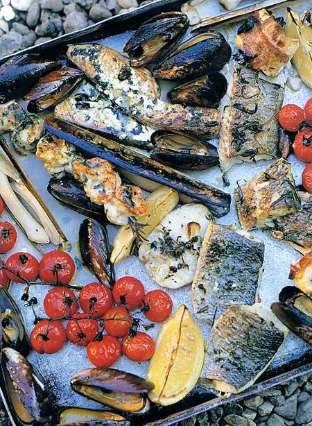 Гриль-миксы на рыбную тему. Креветки