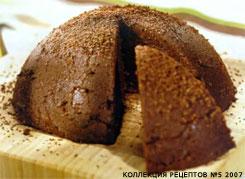 Шоколадный пудинг из манной крупы