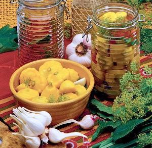 Консервированные патиссоны или кабачки