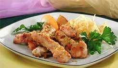 Курица с имбирем и персиками