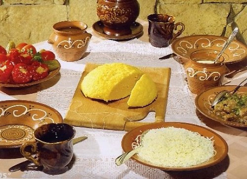 Мамалыга с тертым сыром