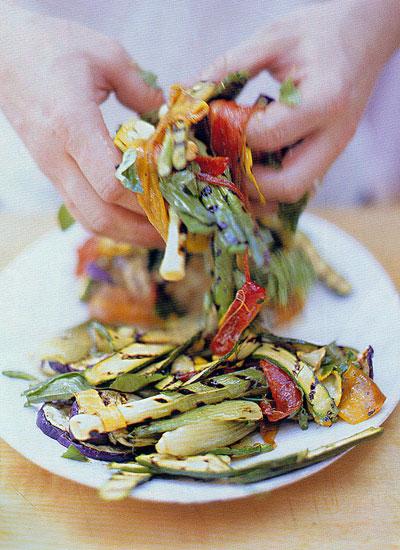 Маринованные овощи на гриле