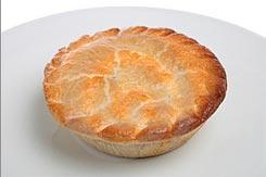 Пирог с грибами и стейком