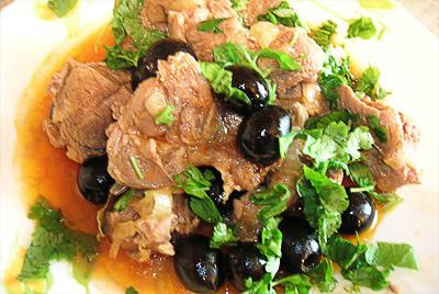 Рагу из баранины по-гречески