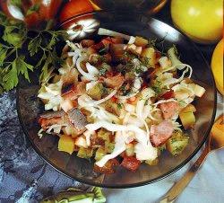 Римский салат из сельди