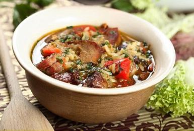 Рис в горшочке по-перуански