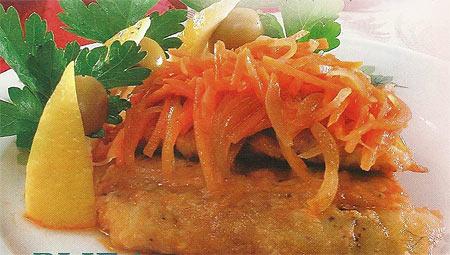 Рыба под маринадом с томатом