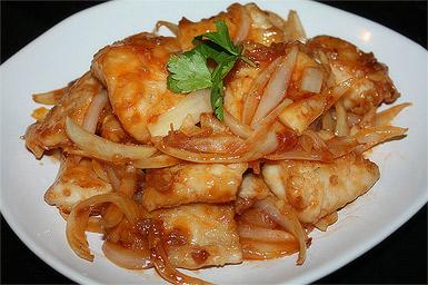 Рыбное филе маринованное