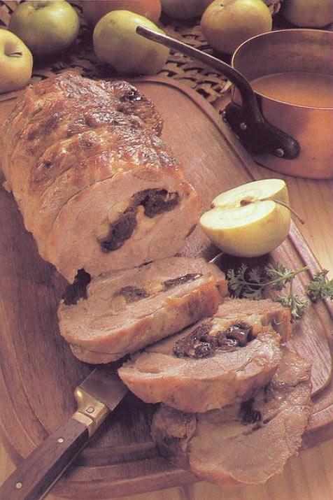 Фаршированное свиное филе или «Рулет по-датски»