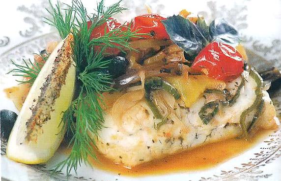 Саламис - рыбное филе по-гречески
