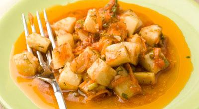 Салат из патиссонов или кабачков