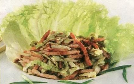 Салат куриный с китайской капустой