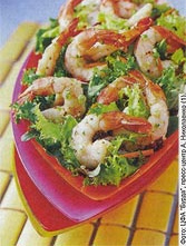 Салат с креветками от Александры Николаенко