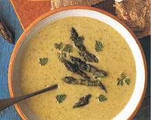 Суп из спаржи по-калифорнийски
