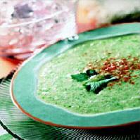 Суп холодный огуречный со щавелем
