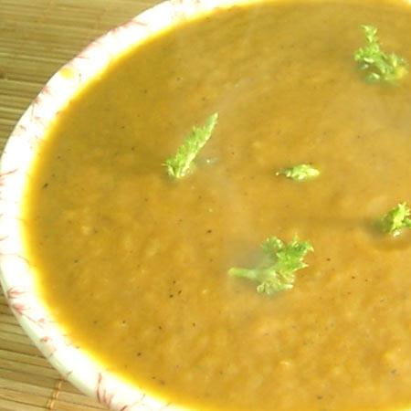 Суп-пюре гороховый по-египетски