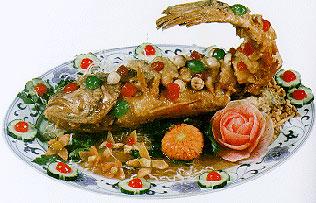 Тянь су ю - кисло-сладкая засахаренная рыба