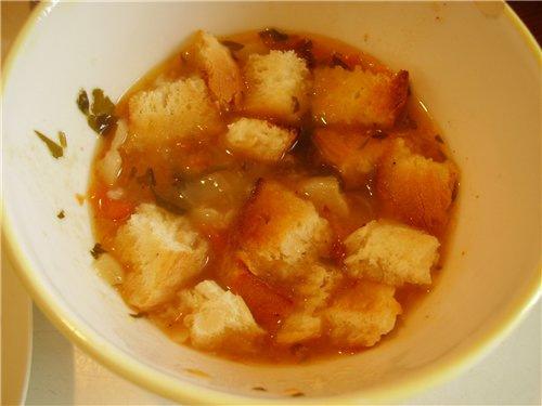 Тирольский суп со шпиком