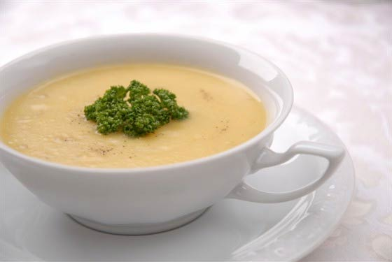 Холодный картофельный суп-крем