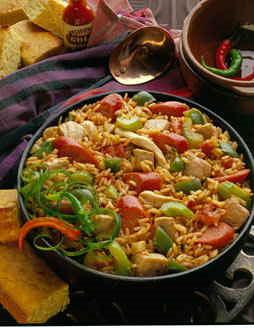Ямбалайя - блюдо с рисом и куриным мясом