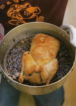 Запеченная утка и овощное рагу