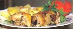 Картофель, тушенный с копченой грудинкой и черносливом от Эльдара Рязанова