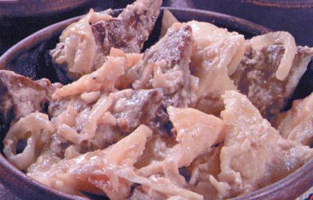 Печеня с галушками