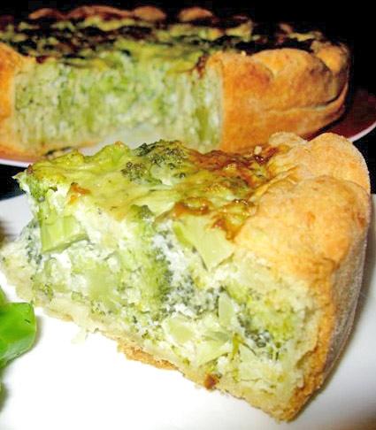 Пирог с брокколи и рикоттой