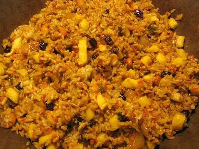 Рис обжаренный с изюмом