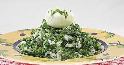 Салат из сырого шпината