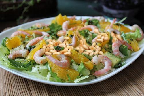 Салат с креветками и апельсинами от Наталии Валевской
