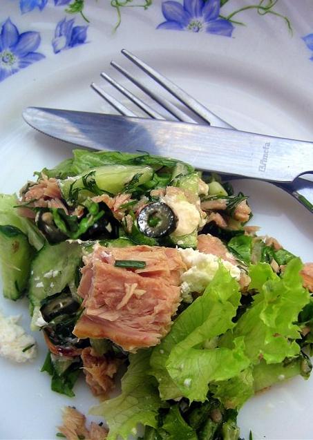 Зеленый салат с тунцом от Виталия Козловского