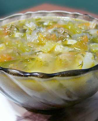 Суп из лука-порея с дрожжами