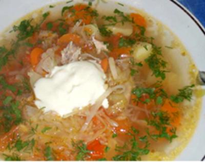 Суп овощной крестьянский
