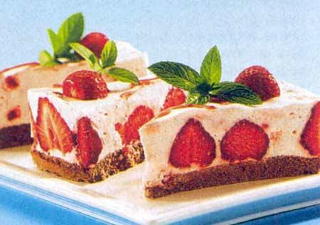 Творожный торт с клубникой по рецепту Тины Кароль