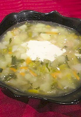 Вегетарианский суп из сборных овощей