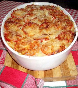 Запеканка из макарон с помидорами