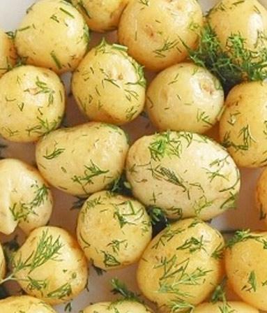 Молодой картофель с эстрагоном