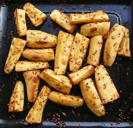 Картофельные пальчики жареные с тмином