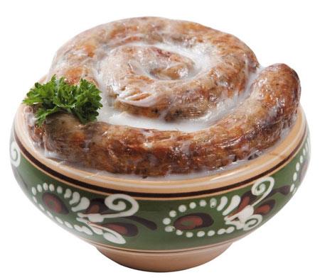 Колбаса в горшочке