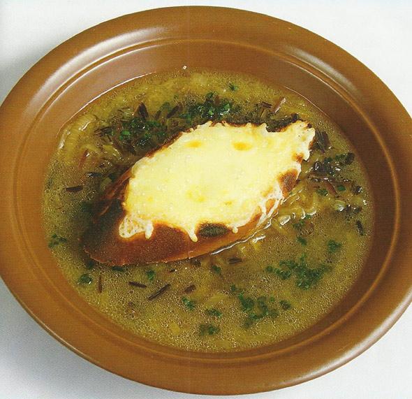Луковый суп с диким рисом от Ильи Лазерсона