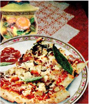 Пицца с копченой курицей и ананасом в мультиварке
