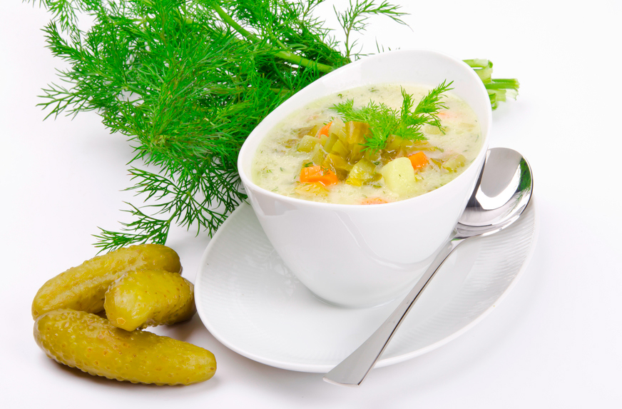 Польский огуречный суп