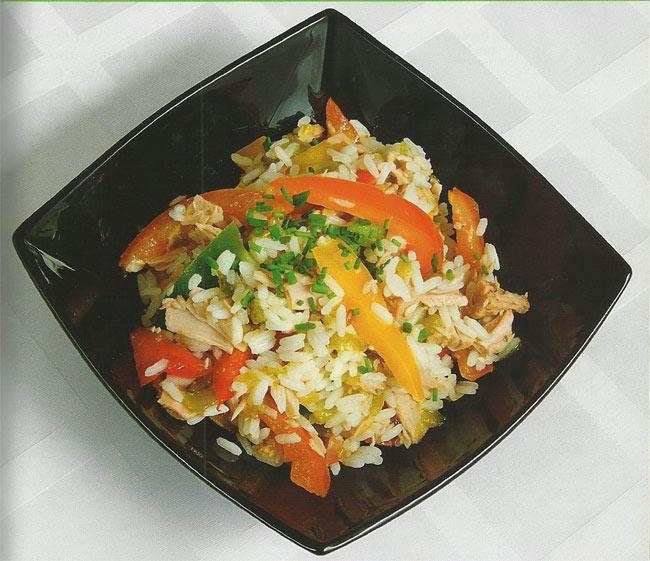 Рисовый салат с тунцом от Ильи Лазерсона