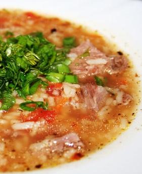 Суп харчо с перловой крупой